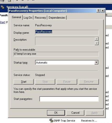 how to set password 2003